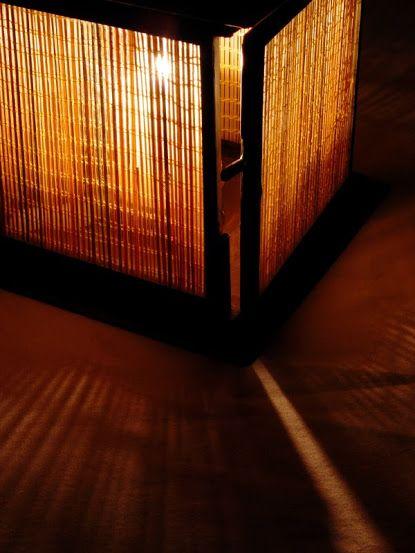 lampara de bambú