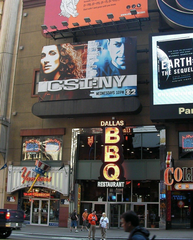 detalle publicidad exterior en times square