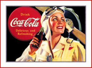 cartel de coca cola vintage