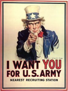 Cartel clásico US Army wants you