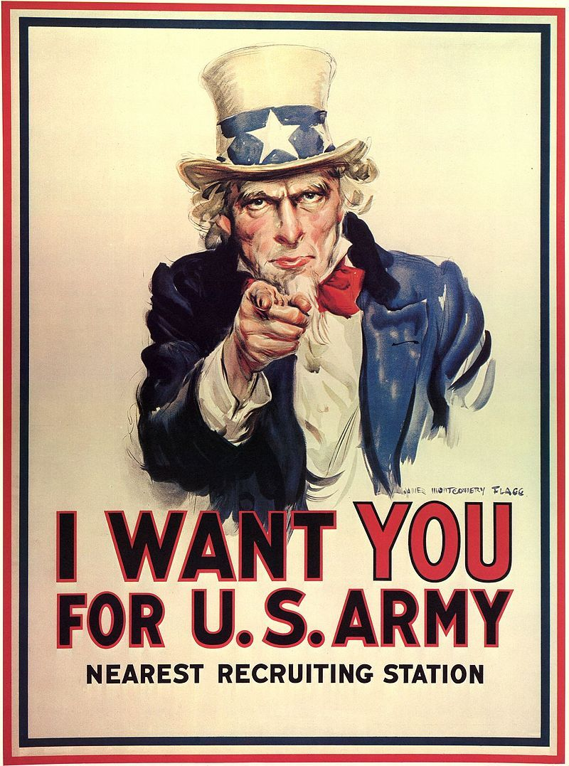 Cartel clásico US Army wants you