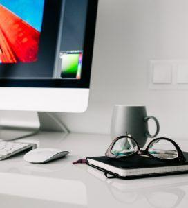 escritorio para trabajar y diseñar