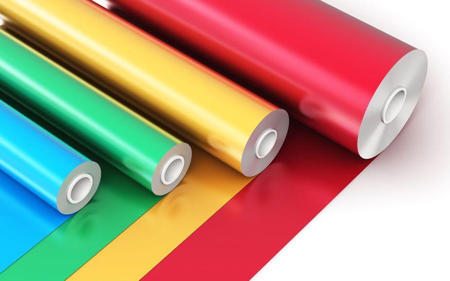 rollos de pvc de colores