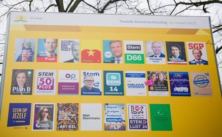 carteles electorales de partidos políticos holandeses