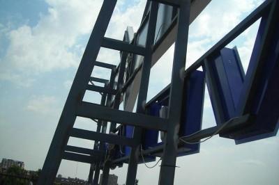 Estructura de instalación de rótulo