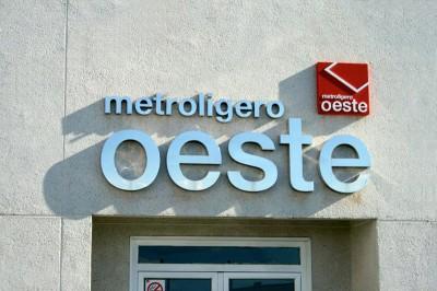 Letra corpórea Metroligero Oeste