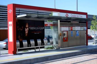 Rotulación de publicidad en estaciones de parada