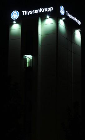 Rotulación en edificio ThyssenKrupp