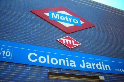 Rotulación en pared de estación Colonia Jardín