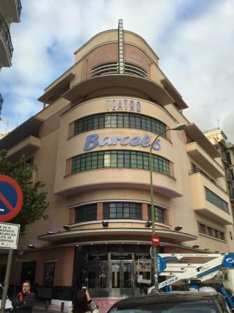 Rotulación en fachada de teatro