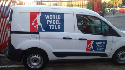 Rótulo lateral vehículo World Padel Tour