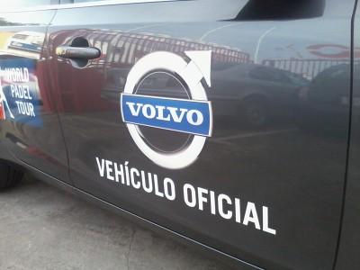 Rótulo Volvo vehículo oficial