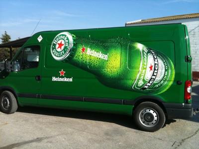 Rótulos de vehículos Heineken